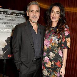 George Clooney y Amal Alamuddin reaparecen tras los rumores de embarazo por partida doble