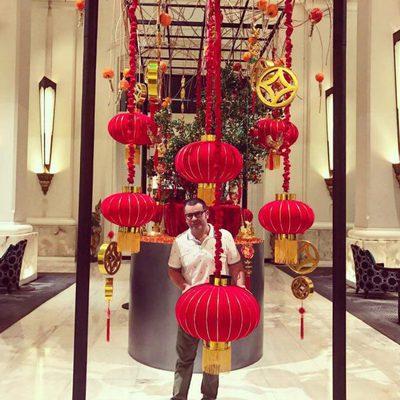 Jorge Javier Vázquez celebrando el Año Nuevo Chino en Tailandia