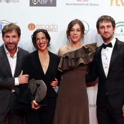 Raúl Arévalo, Antonio de la Torre y Ruth Díaz en los Premios Forqué 2017