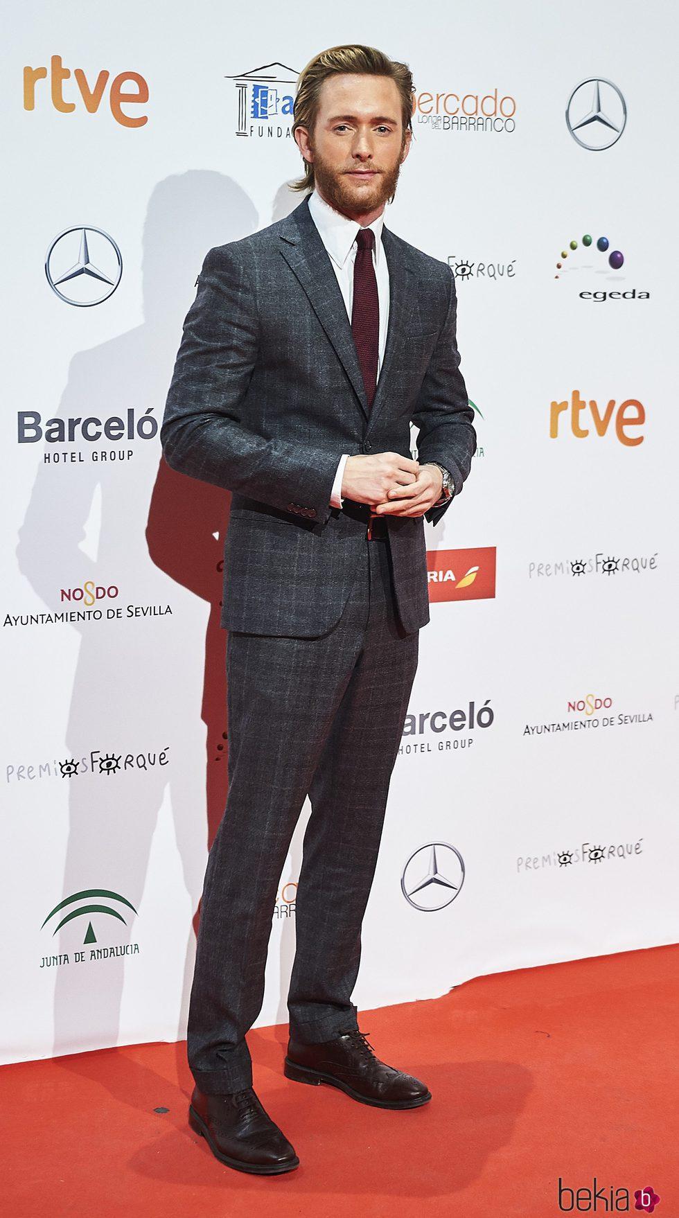 Pablo Rivero en la entrega de los Premios Forqué 2017