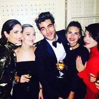 Jon Kortajarena, Eugenia Silva y Amaia Salamanca en la fiesta de cumpleaños de Marta Ortega