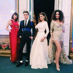 Pelayo Díaz, Natalia Ferviú, Marta Torné y Cristina Rodríguez en las Campanadas del 2015/2016