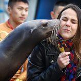 Pauline Ducruet con una foca en la inauguración del Festival de Circo de Monte-Carlo 2017