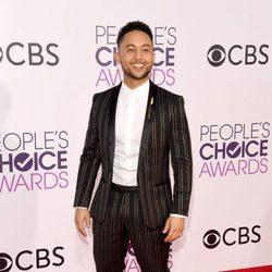 Tahj Mowry en la alfombra roja de los People's Choice Awards 2017