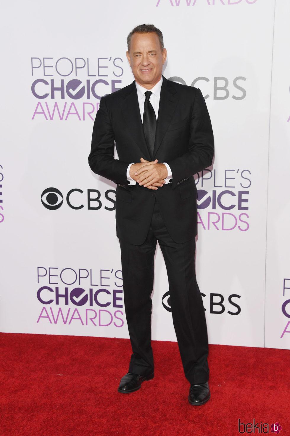 Tom Hanks en la alfombra roja de los People's Choice Awards 2017