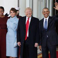 MIchelle Obama, Melania Trump, Donald Trump y Barack Obama en la Toma de Posesión de Donald Trump