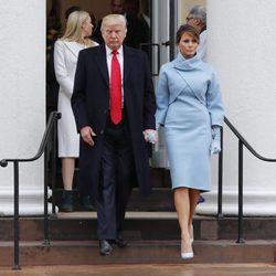 Donald Trump y Melania Trump acuden a la misa antes de la investidura a la presidencia de Estados Unidos