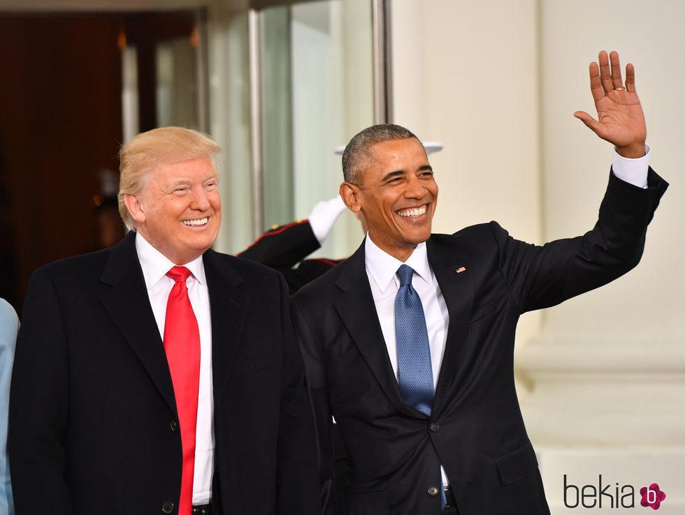 Donald Trump y Barack Obama en la toma de posesión de la presidencia