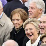 Hillary Clinton, Bill Clinton y George W. Bush en la toma de posesión de Donald Trump