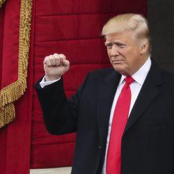 Donald Trump en su toma de posesión de la presidencia de Estados Unidos