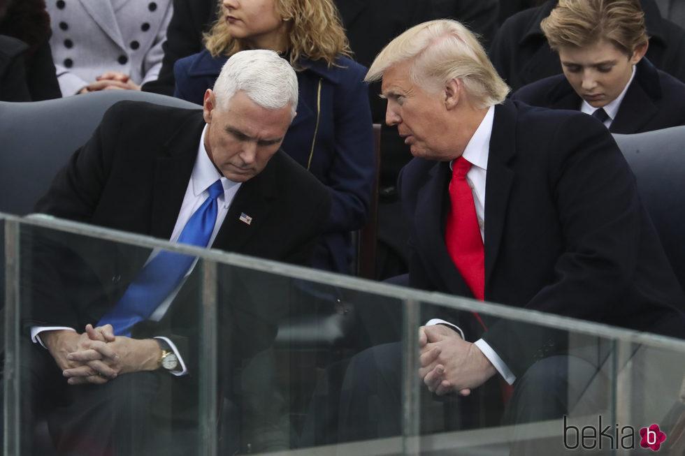 Donald Trump con el nuevo vicepresidente de Estados Unidos, MIke Pence