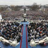 Imagen panorámica de la toma de posesión de Donald Trump como 45º presidente de Estados Unidos