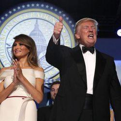 Donald Trump y su mujer en el baile inaugural de su estrenada presidencia de Estados Unidos