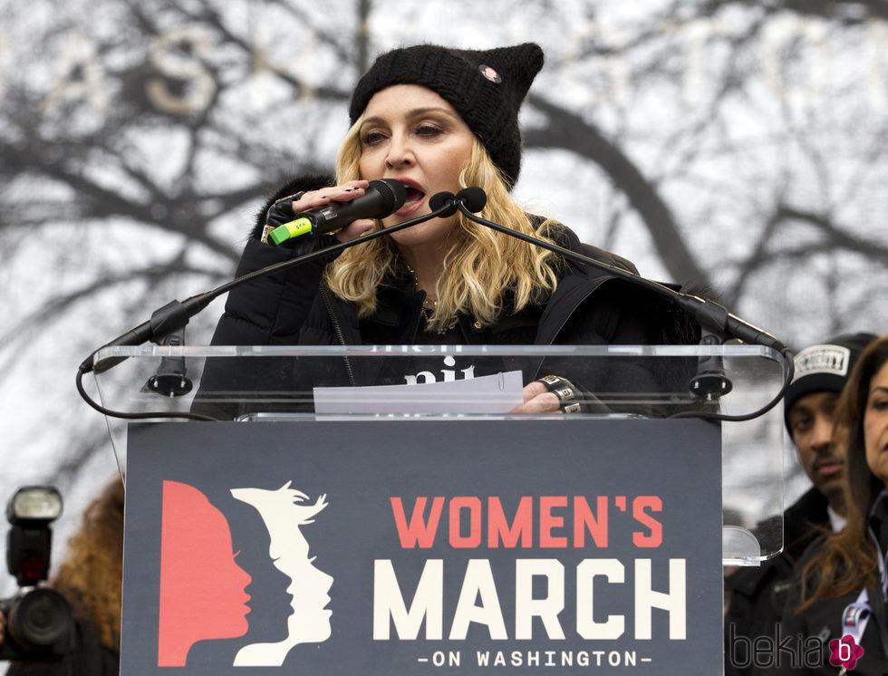 Madonna en la Marcha de las Mujeres en Washington