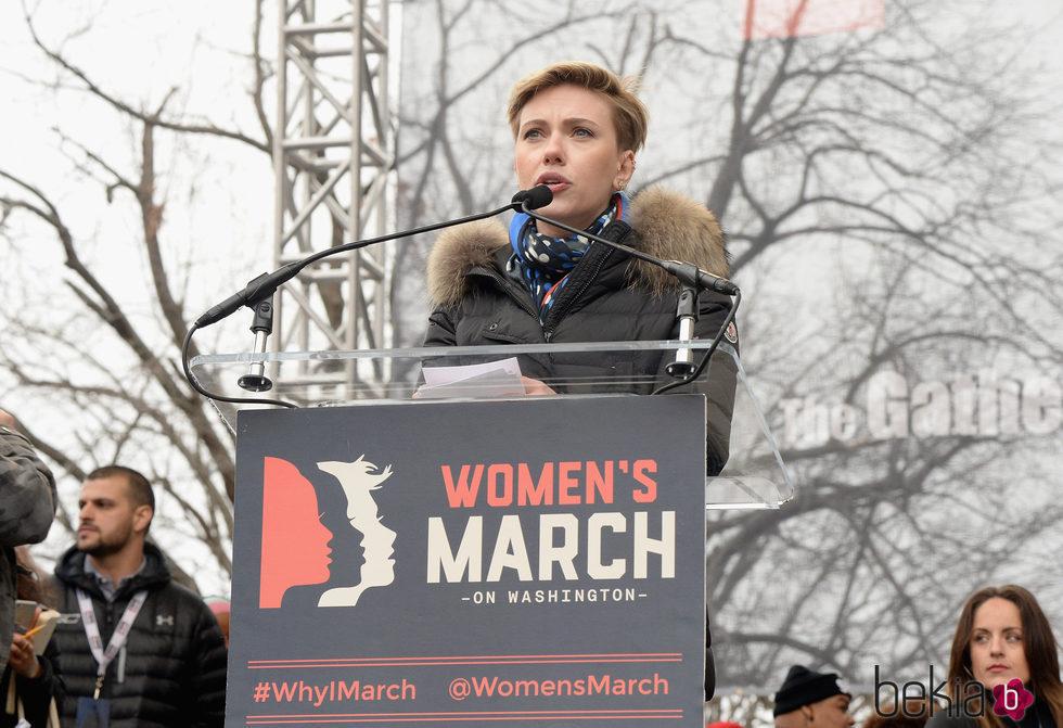 Scarlett Johansson en la Marcha de las Mujeres en Washington