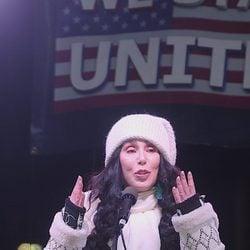 Cher en la Marcha de las Mujeres en Washington