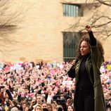 Alicia Keys en la Marcha de las Mujeres en Washington
