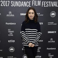 Lily Collins en el Sundance Festival presentando su película 'To the Bone'