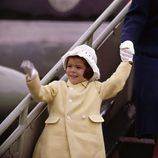 Carolina de Mónaco de niña llegando a Dublín