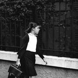 Carolina de Mónaco yendo al colegio