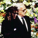 Carolina de Mónaco y Rainiero de Mónaco en el funeral de Stefano Casiraghi
