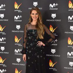 Vanesa Romero en la alfombra roja de los Premios Feroz 2017