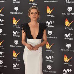María León en la alfombra roja de los Premios Feroz 2017