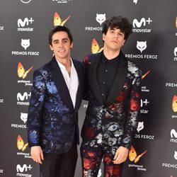 Javier Ambrossi y Javier Calvo en la alfombra roja de los Premios Feroz 2017