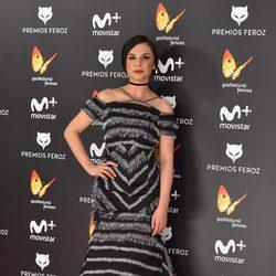Miren Ibarguren en la alfombra roja de los Premios Feroz 2017