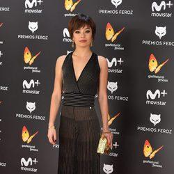 Anna Castillo en la alfombra roja de los Premios Feroz 2017