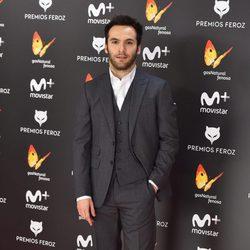 Ricardo Gómez en la alfombra roja de los Premios Feroz 2017