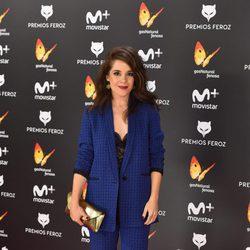 Nuria Gago en la alfombra roja de los Premios Feroz 2017