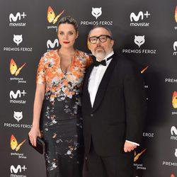 Álex de la Iglesia y Carolina Bang en la alfombra roja de los Premios Feroz 2017