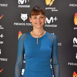 Leonor Watling en la alfombra roja de los Premios Feroz 2017