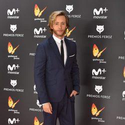Pablo Rivero en la alfombra roja de los Premios Feroz 2017