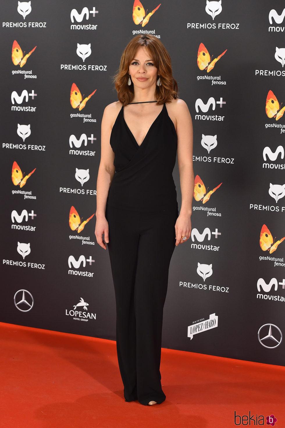 María Adánez en la alfombra roja de los Premios Feroz 2017