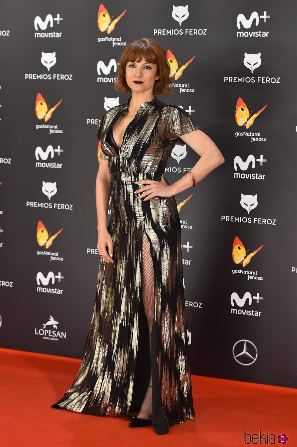 Najwa Nimri en la alfombra roja de los Premios Feroz 2017