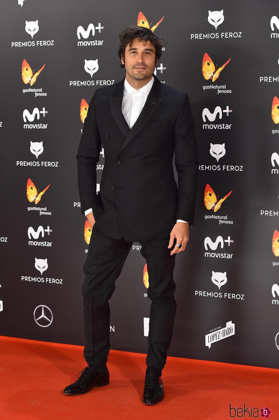 Álex García en la alfombra roja de los Premios Feroz 2017