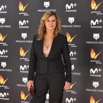 Emma Suárez en la alfombra roja de los Premios Feroz 2017