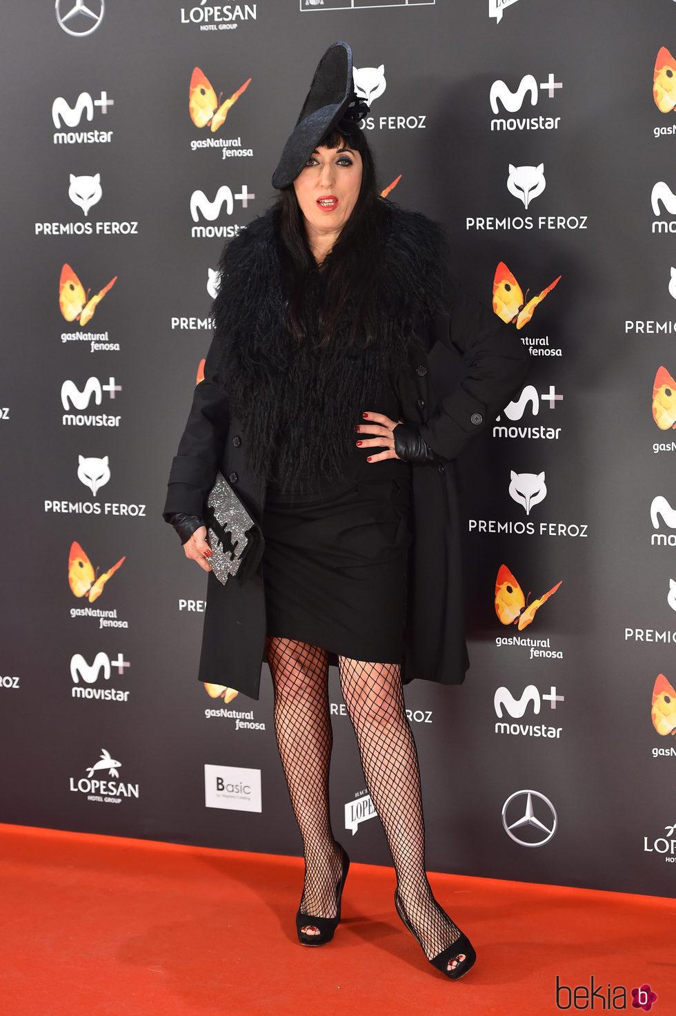 Rossy de Palma en la alfombra roja de los Premios Feroz 2017