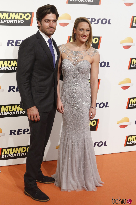 Mireia Belmonte y Javier Herranz en la Gala Mundo Deportivo 2017