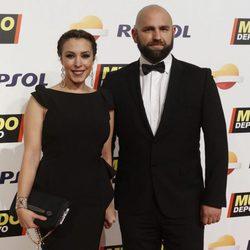 Gisela y su novio en la Gala Mundo Deportivo 2017