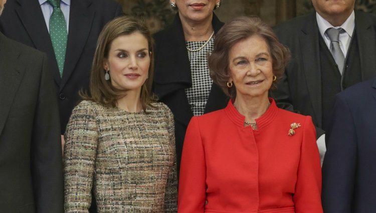 La Reina Letizia y la Reina Sofía en los Premios Nacionales del Deporte
