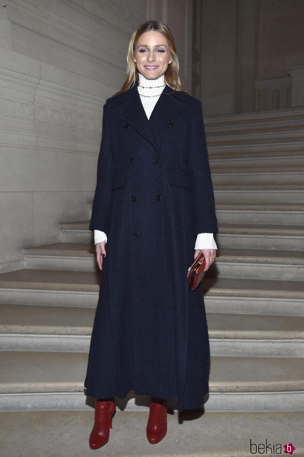 Olivia Palermo en el front row de Valentino en la Semana de la Alta Costura de París