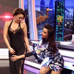 Pilar Rubio revelando que Chenoa no llevaba ropa interior en 'El hormiguero'