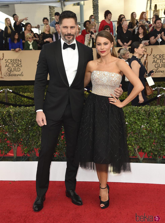 Sofía Vergara y su marido en los SAG Awards 2017
