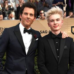 James Marsden y su hijo Jack en los SAG Awards 2017