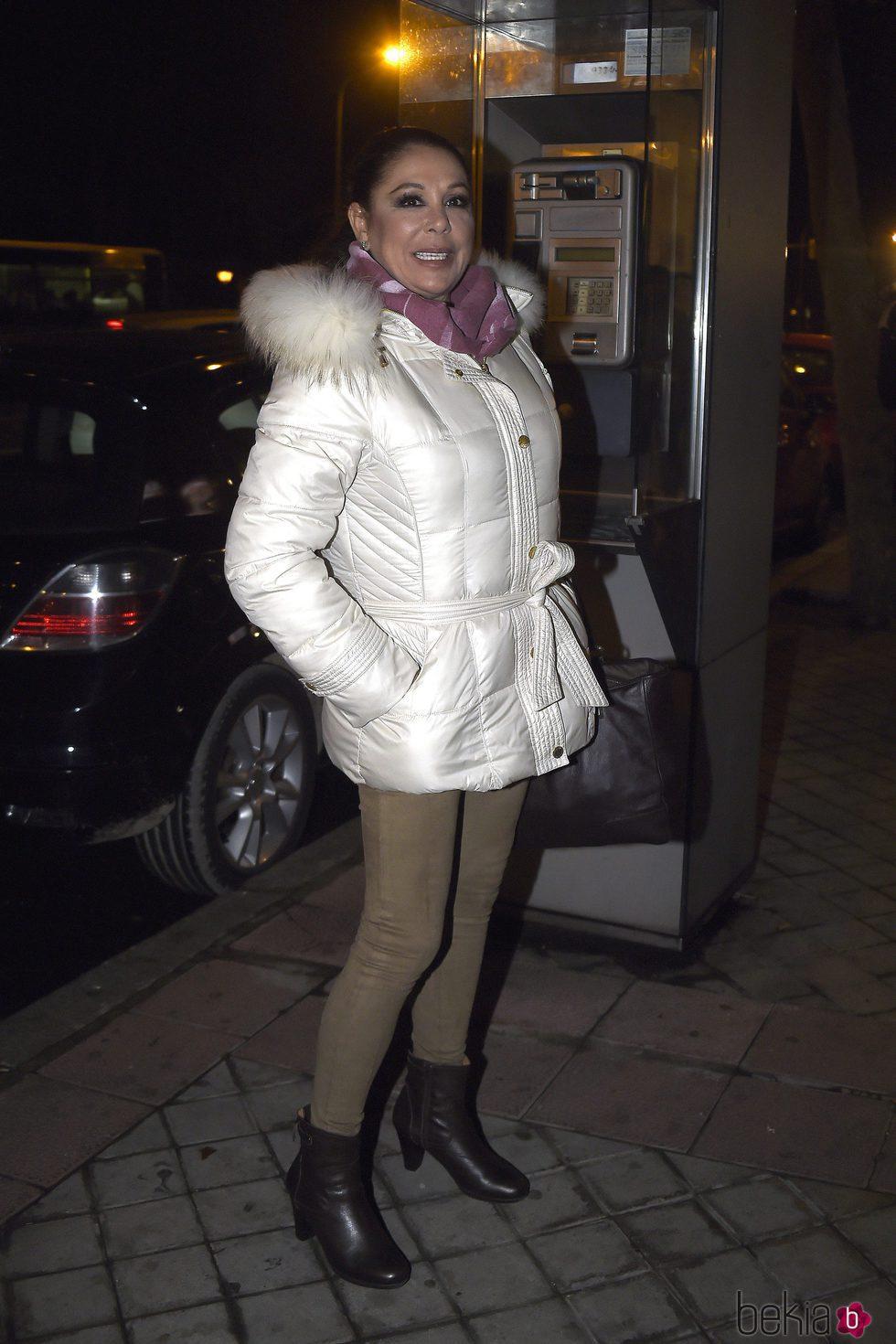Isabel Pantoja volviendo a su nuevo domicilio de Madrid