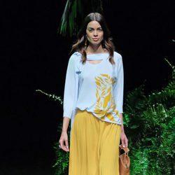 Joana Sanz desfilando para Scorpion en la 080 Barcelona Fashion