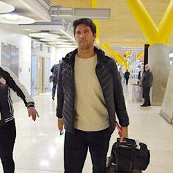 Fernando Verdasco en el aeropuerto de Madrid